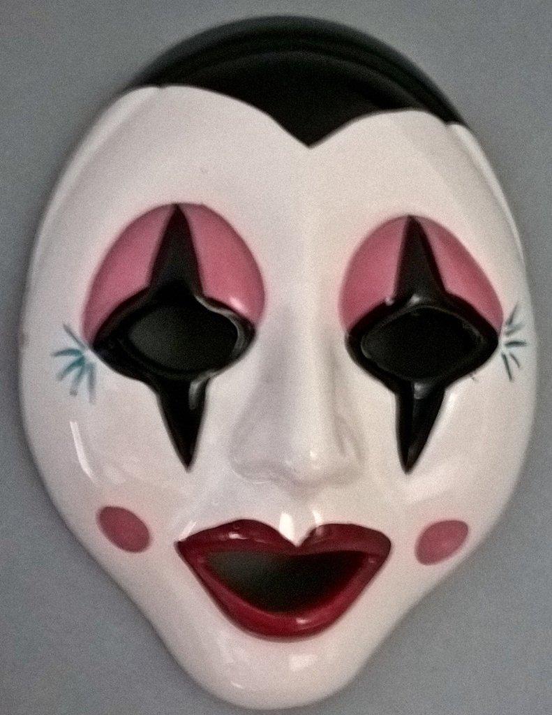 Maschera in ceramica pagliaccio