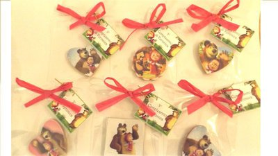 INSERZIONE RISERVATA PER ANNALISA - 25 bomboniere compleanno masha e orso