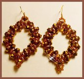 """ Superduo "" earrings"