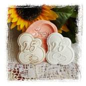 Stampo *nuvoletta 25° anniversario con fedi*