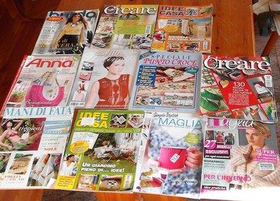 riviste cucito ricamo maglia uncinetto