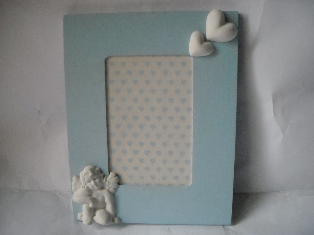 Cornice nascita azzurra,cornice baby,cornice bebè