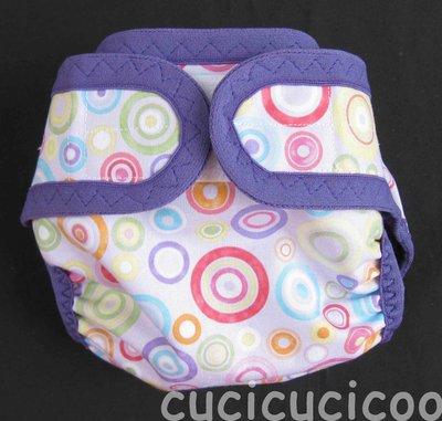 pannolino a tasca M (cerchi lilla e verde)