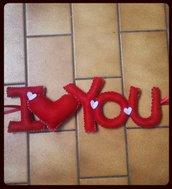"""Scritta """"I Love You"""" in pannolenci"""