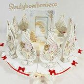 Bomboniere sacre per cresima confezione su torta bomboniera confetti bigliettino inclusi