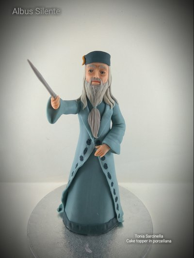 Scultura cake topper Albus Silente film Harry Potter