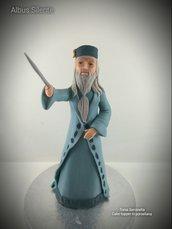 Scultura cake topper Albus Silente film Harry Potter