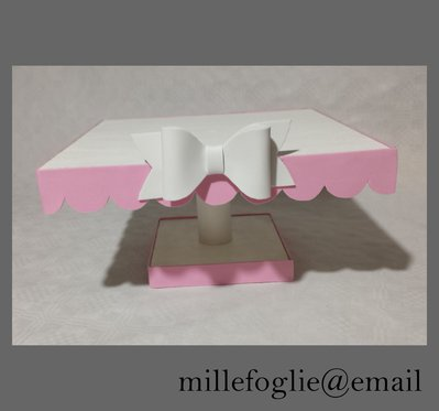 Alzata rosa e bianca per torte e dolci Compleanno,Battesimo,Comunione,Cresima,Matrimonio 32 €