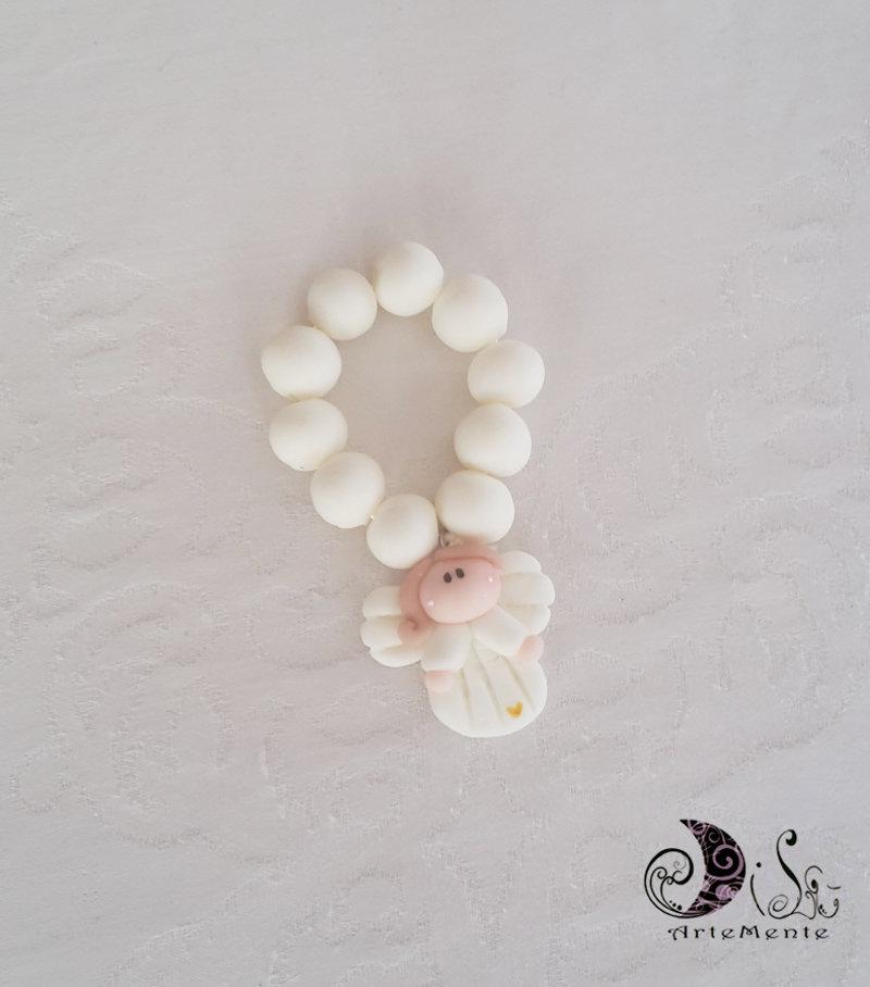 Favoloso bomboniera prima comunione rosario con angelo bianco per bimba e  MQ34