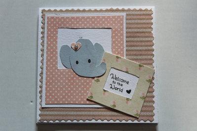Biglietto Auguri Nascita - Elefantina