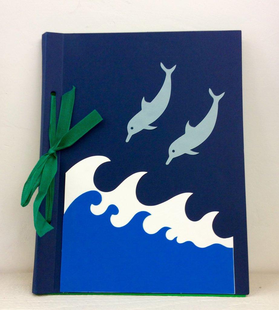 Album foto collage delfini