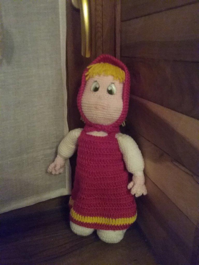 Bambola Masha amigurumi