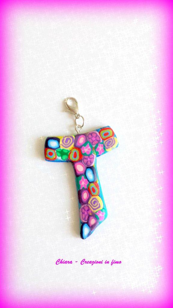 Bomboniere per Comunione e Cresima in fimo handmade Croce con murrine multicolore personalizzabili