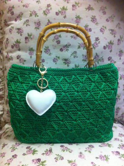 borsa in cordino swan verde smeraldo, idea regalo