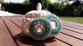 Orecchini a cerchio color turchese