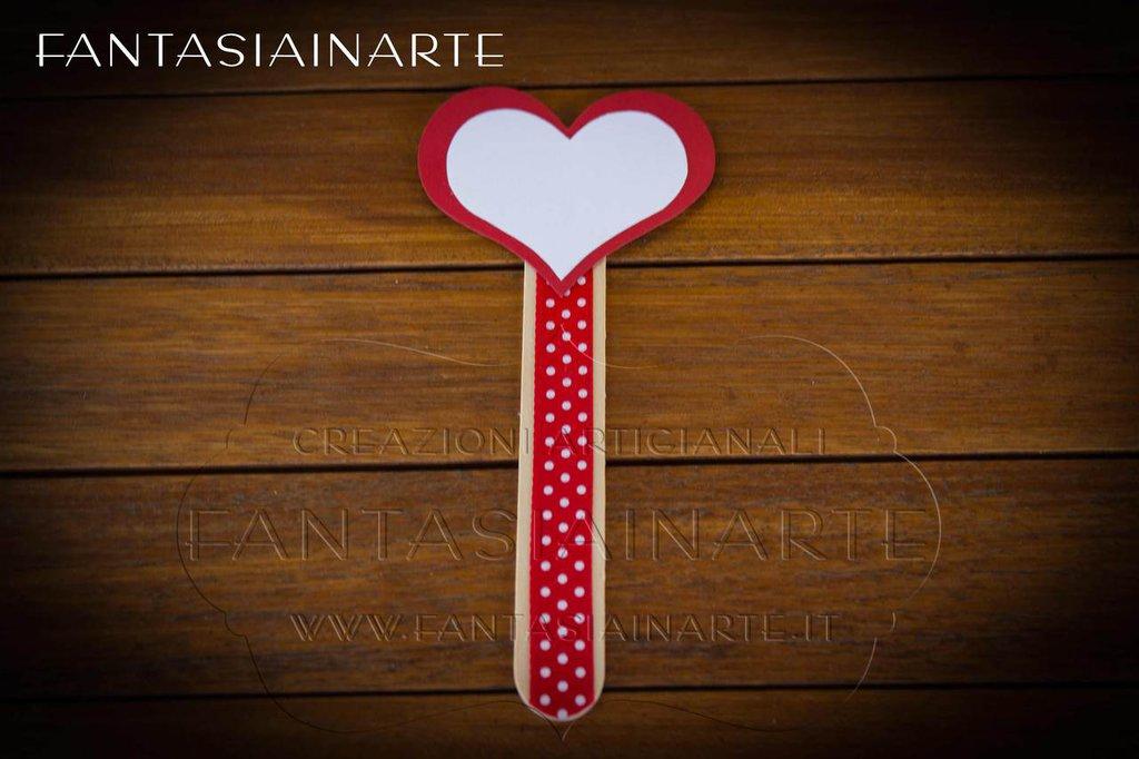Targhetta Segnagusto Confettata - Cuore Rosso