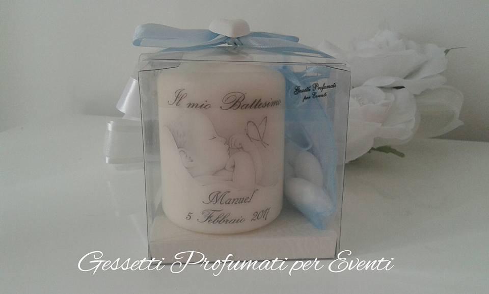 Favorito Bomboniera candela personalizzata battesimo - Feste - Bomboniere  XA64