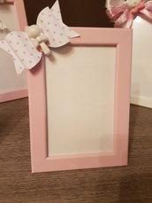 Portafoto fiocco rosa