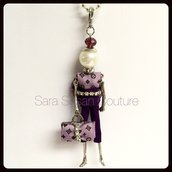 Collana bambolina – My Little Doll by Sara Susan Couture – Modello L.V. Style – Sara