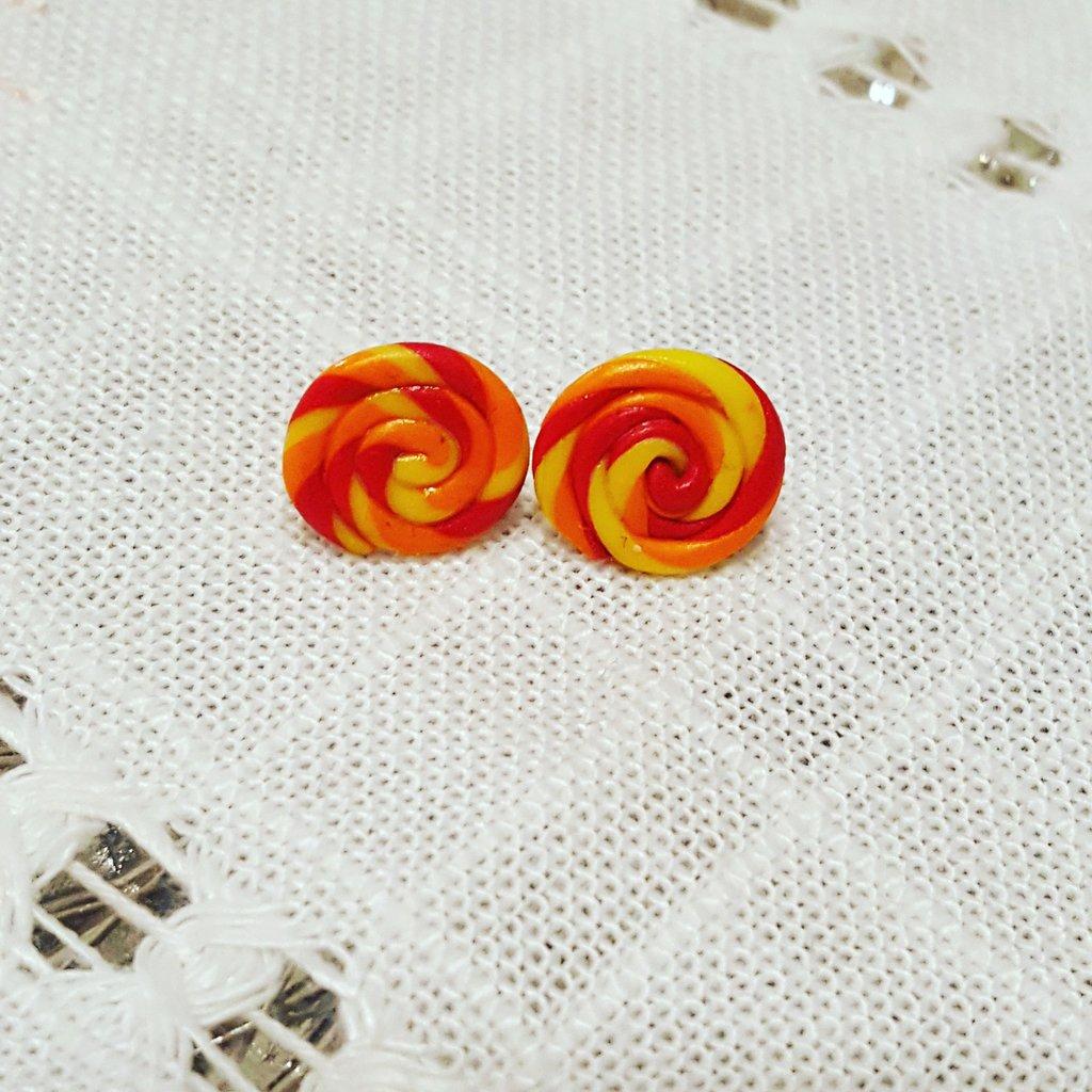 orecchini a lobo girella multicolore