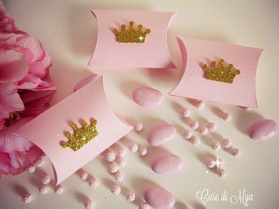 Scatoline principesche rosa e oro