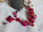 Fuxia natural collier