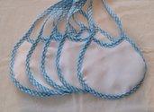 Bavaglino da neonato da ricamere azzurro
