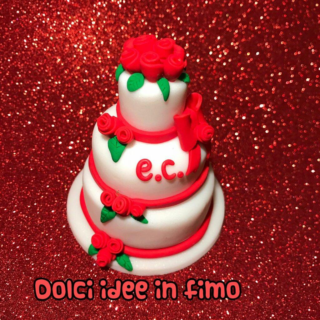 Wedding cake in fimo