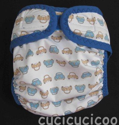 pannolino a tasca S lavabile (maggiolini e azzurro)