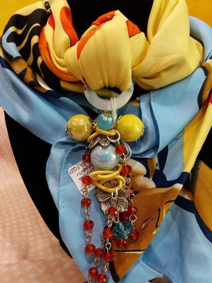 foulard gioiello multicolore