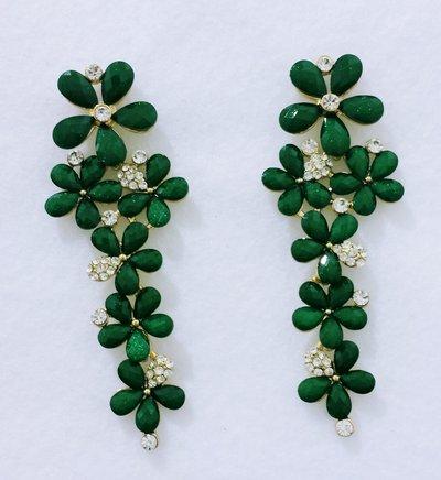 """Orecchini pendenti a fiori verdi """"Fiorverdi"""""""