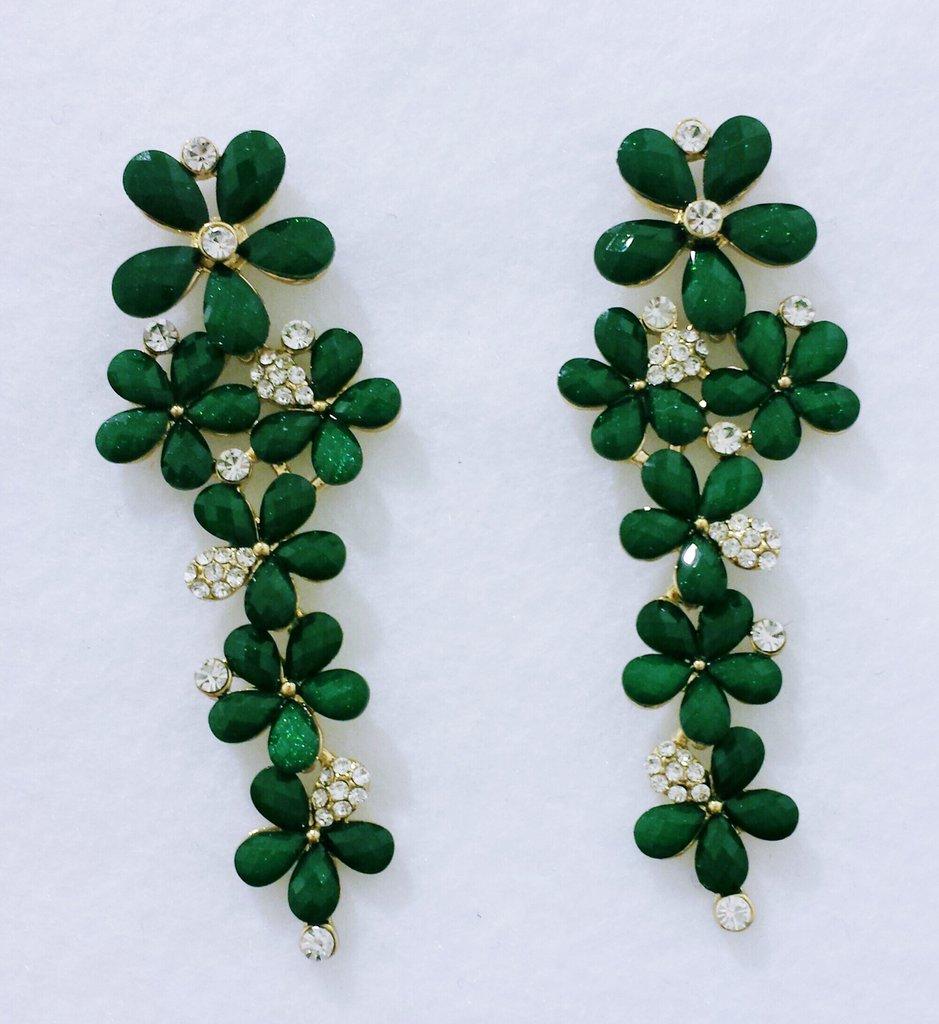 Orecchini pendenti a fiori verdi fiorverdi gioielli for Fiori verdi