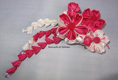 Tsumami kanzashi tradizionale 3
