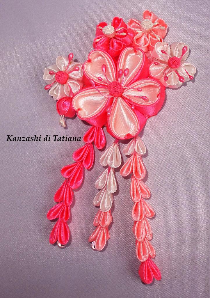 Tsumami kanzashi tradizionale 4