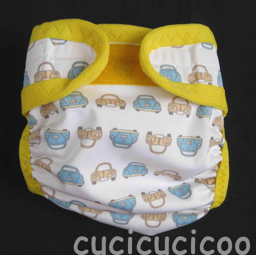 pannolino a tasca S lavabile (maggiolini e sc giallo)