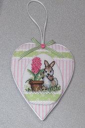 """Addobbo a forma di cuore """"Coniglio Pasquale"""""""