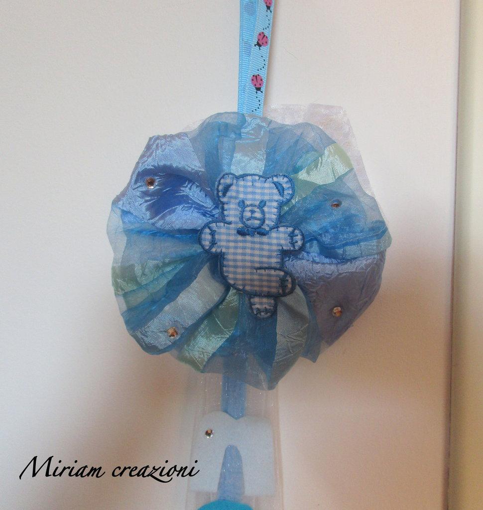Coccarda nascita azzurra