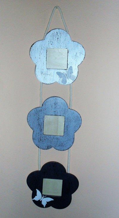 Cornice portafoto da muro dipinta a mano