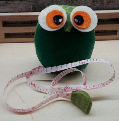 gufetto metro puntaspilli verde