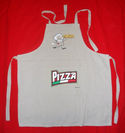 Grembiule con pettorina dipinto a mano per pizzaioli