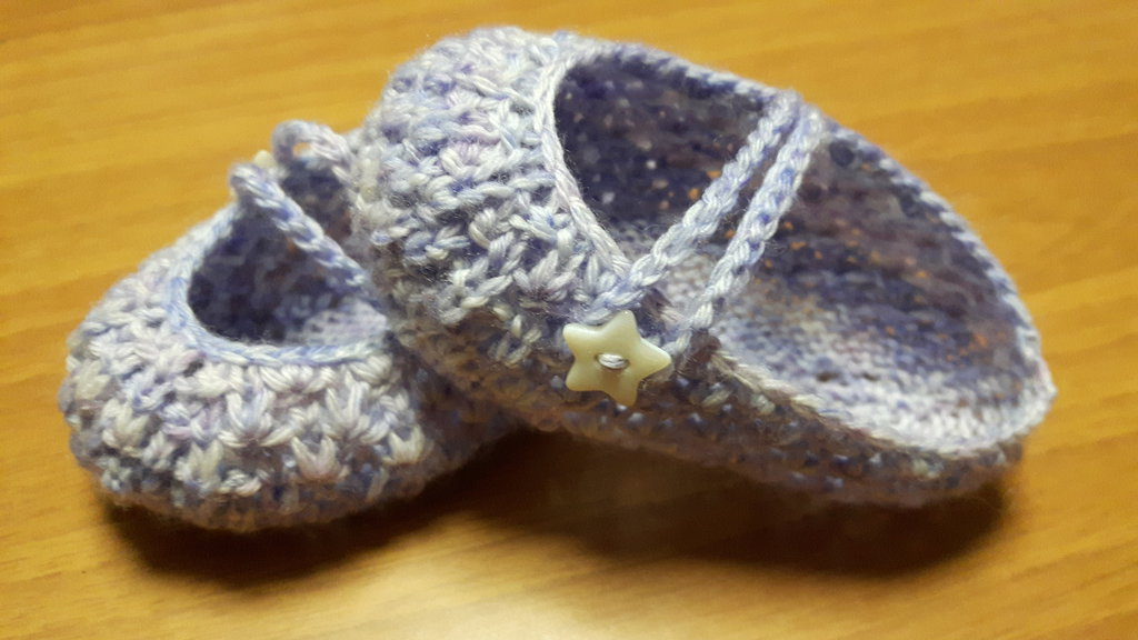Scarpine bimba neonato melangè bianco/lilla/violetto
