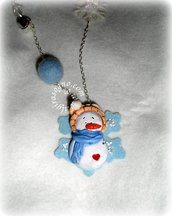 COLLANA COUNTRY SNOWMAN necklace