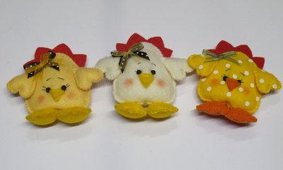 Set di 3 pulcini Pasquali.
