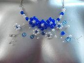 Marguerite blu collier