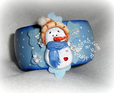 BANGLE COUNTRY SNOWMAN-BRACCIALE