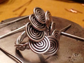 ANELLO WIRE COLOR ALLUMINIO CON SPIRALI