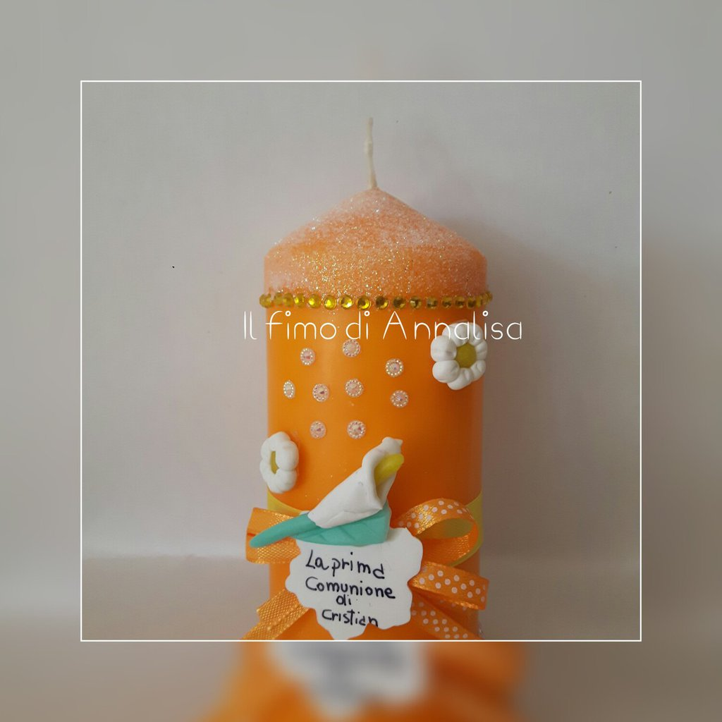 Candele decorate In fimo