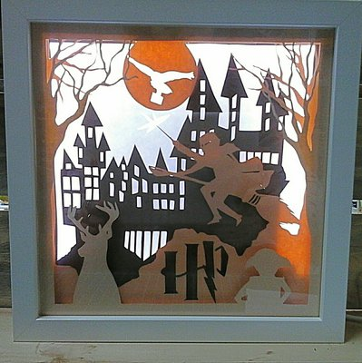 Quadro luminoso a led Harry Potter