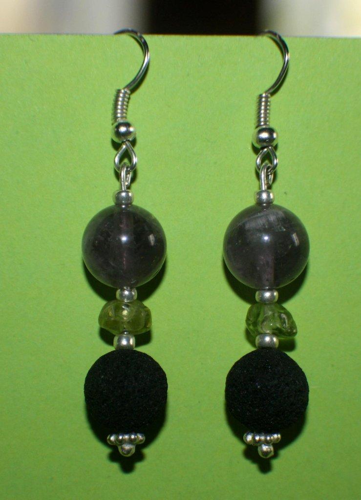 orecchini ametista-lava-olivina