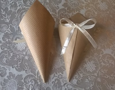 50 coni portariso rustici 5000 coriandoli a cuore porta - Porta riso matrimonio ...